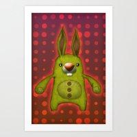 Bunny rag doll  Art Print