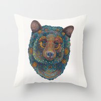 Constellation Bear Throw Pillow