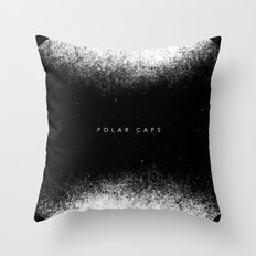 Polar Caps Throw Pillow