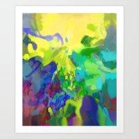 Yellow Lyrical Abstracti… Art Print