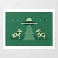 Merry Abduction Art Print