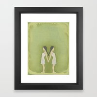 Sisters, Almost Framed Art Print