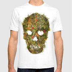 LIFE AND DEATH Mens Fitted Tee White SMALL