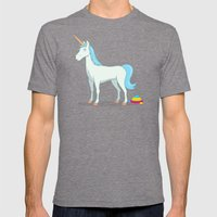 Unicorn Poop Mens Fitted Tee Tri-Grey SMALL