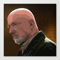 Canvas Print featuring Breaking Bad Illustrated - Mike Erhmantraut by Martin Woutisseth