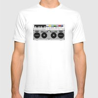 1 kHz #10 Mens Fitted Tee White SMALL