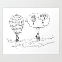 Thought Balloons Art Print