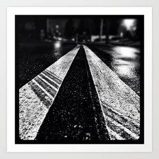 Wet asphalt. Art Print