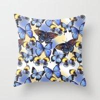 Pattern with butterflies Throw Pillow