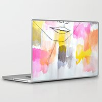 lips Laptop & iPad Skins featuring Lips by Alexandra Str