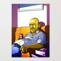 Depressed Homer Canvas Print