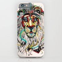 yellow iPhone & iPod Cases featuring Lion by Felicia Atanasiu