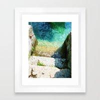 le scale verso il lago Framed Art Print