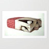 Skull Block Art Print