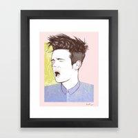 Nate Ruess Framed Art Print