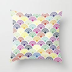 Colorful Circles II Throw Pillow