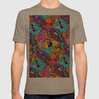 Monsters Mens Fitted Tee Tri-Coffee SMALL