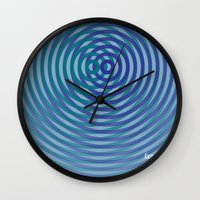 SoundWaves Teal/Indigo Wall Clock