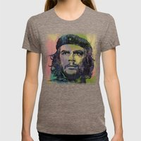 Che Guevara Womens Fitted Tee Tri-Coffee SMALL