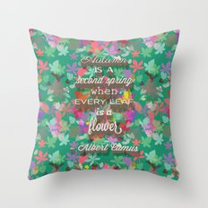 autumn is a second spring Throw Pillow