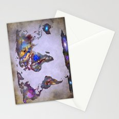 Stars world map. Space. Stationery Cards