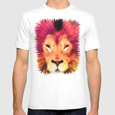 BIG CAT LION SMALL White Mens Fitted Tee