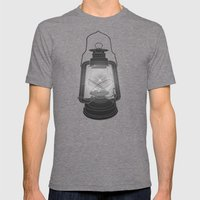Cage of Fireflies Mens Fitted Tee Tri-Grey SMALL