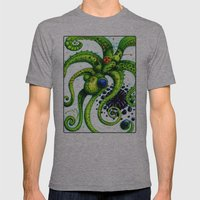 Infinity Octopus Mens Fitted Tee Athletic Grey SMALL
