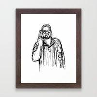 Walter Sobchak Framed Art Print