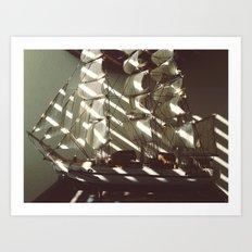 Wooden Ship Art Print