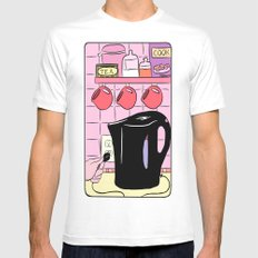 Making Tea: Plug In Your Kettle Mens Fitted Tee White SMALL