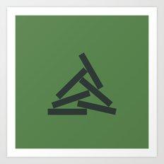 #70 Euclid's campfire – Geometry Daily Art Print