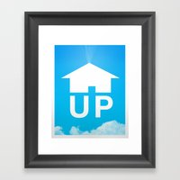 Up Poster Framed Art Print