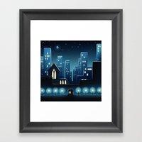 City Lights 1 Framed Art Print