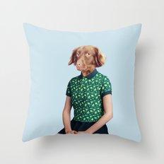 Miss Moony Throw Pillow