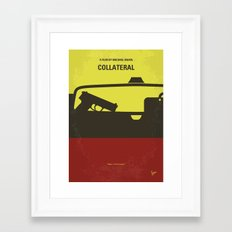 No691 My Collateral minimal movie poster Framed Art Print