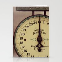Vintage Scale Stationery Cards