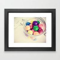 Bubble Gum Delight Framed Art Print