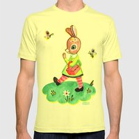 Rebecca Rabbit As Franco… Mens Fitted Tee Lemon SMALL
