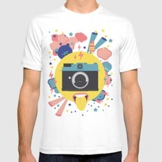 having too much fun to take pictures SMALL White Mens Fitted Tee