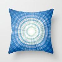 Blue Burst Throw Pillow