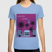 Concrete Jungle Womens Fitted Tee Athletic Blue SMALL