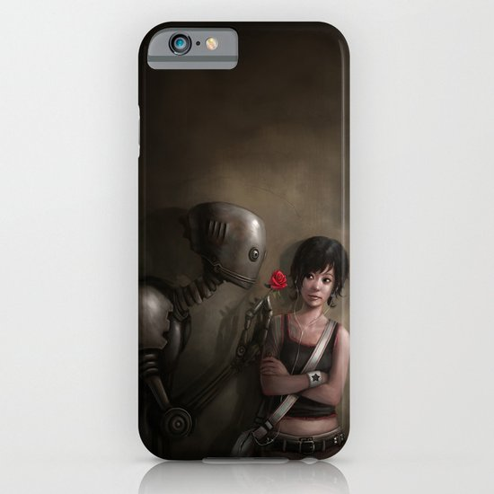 Robot In Love iPhone & iPod Case