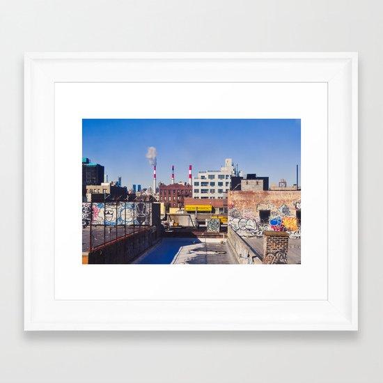 Long Island City Skyline Framed Art Print