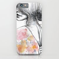 Implosion, watercolor with ink iPhone 6 Slim Case