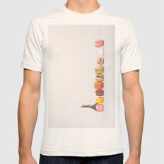 Paris, macarons and the eiffel tower Mens Fitted Tee Natural SMALL