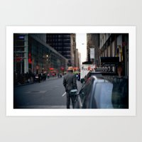 Panama Hat in the New York Streets Art Print