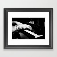 The Piano Man's Hands Framed Art Print