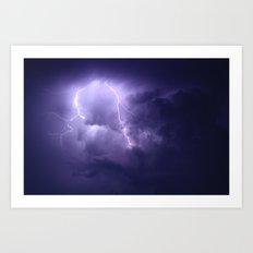 Lightning Imbalance  Art Print