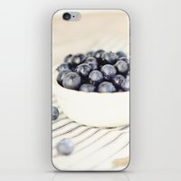 Scalloped Cup Full of Blueberries - Kitchen Decor iPhone & iPod Skin